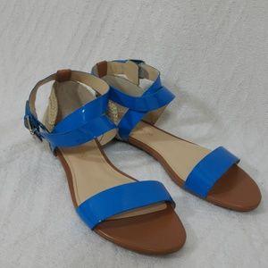 Enzo angiolini women sandal new sz 8M blue tan